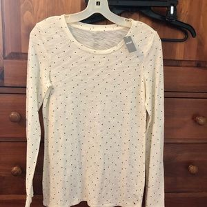 NWT Aerie Best T long sleeve tee with tiny stars-M